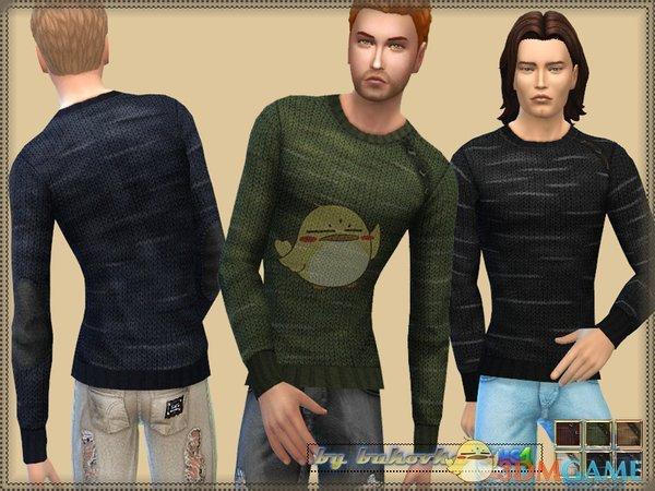《模拟人生4》男性粗花呢毛衣MOD