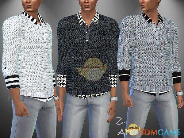 《模拟人生4》男性时尚毛衣衬衫MOD