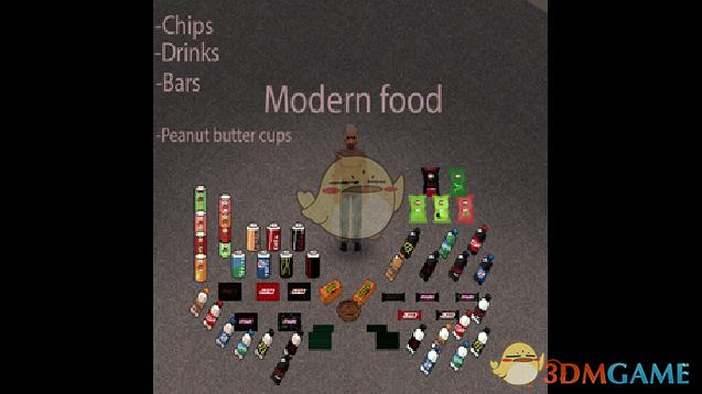 《僵尸毁灭工程》更多的现代食物MOD