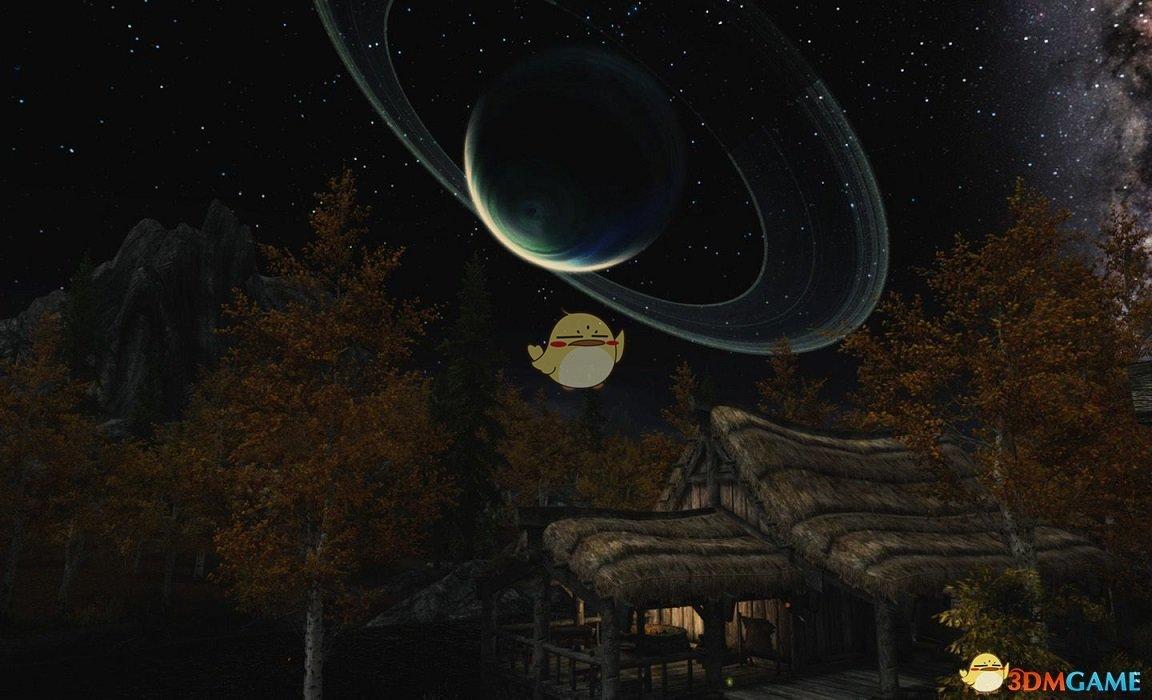 《上古卷轴5:天际重置版》2k4k的夜晚天空纹理MOD