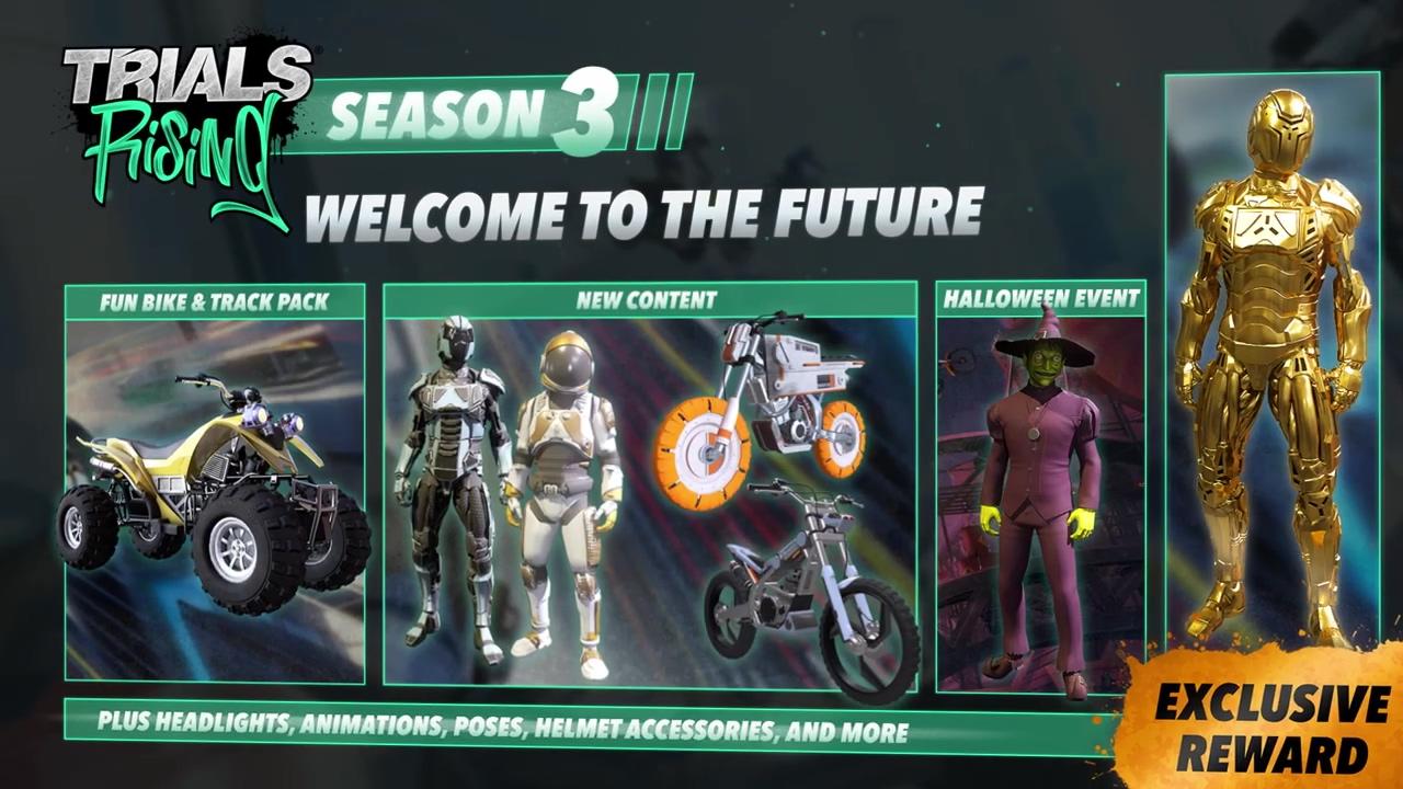 全地形ATV加入《特技摩托:崛起》第三赛季穿越未来