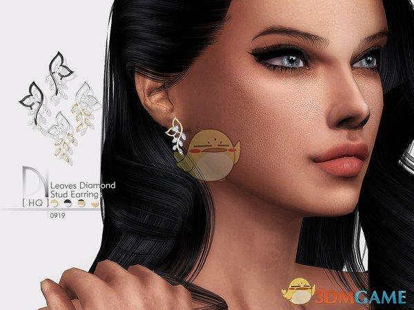《模拟人生4》叶子钻石耳环MOD