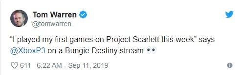Xbox总监:我第一次玩了次世代主机Xbox Scarlett