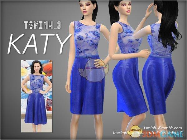 《模拟人生4》明星同款紫色连衣裙MOD