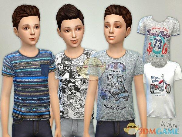 《模拟人生4》男孩多款式短袖MOD