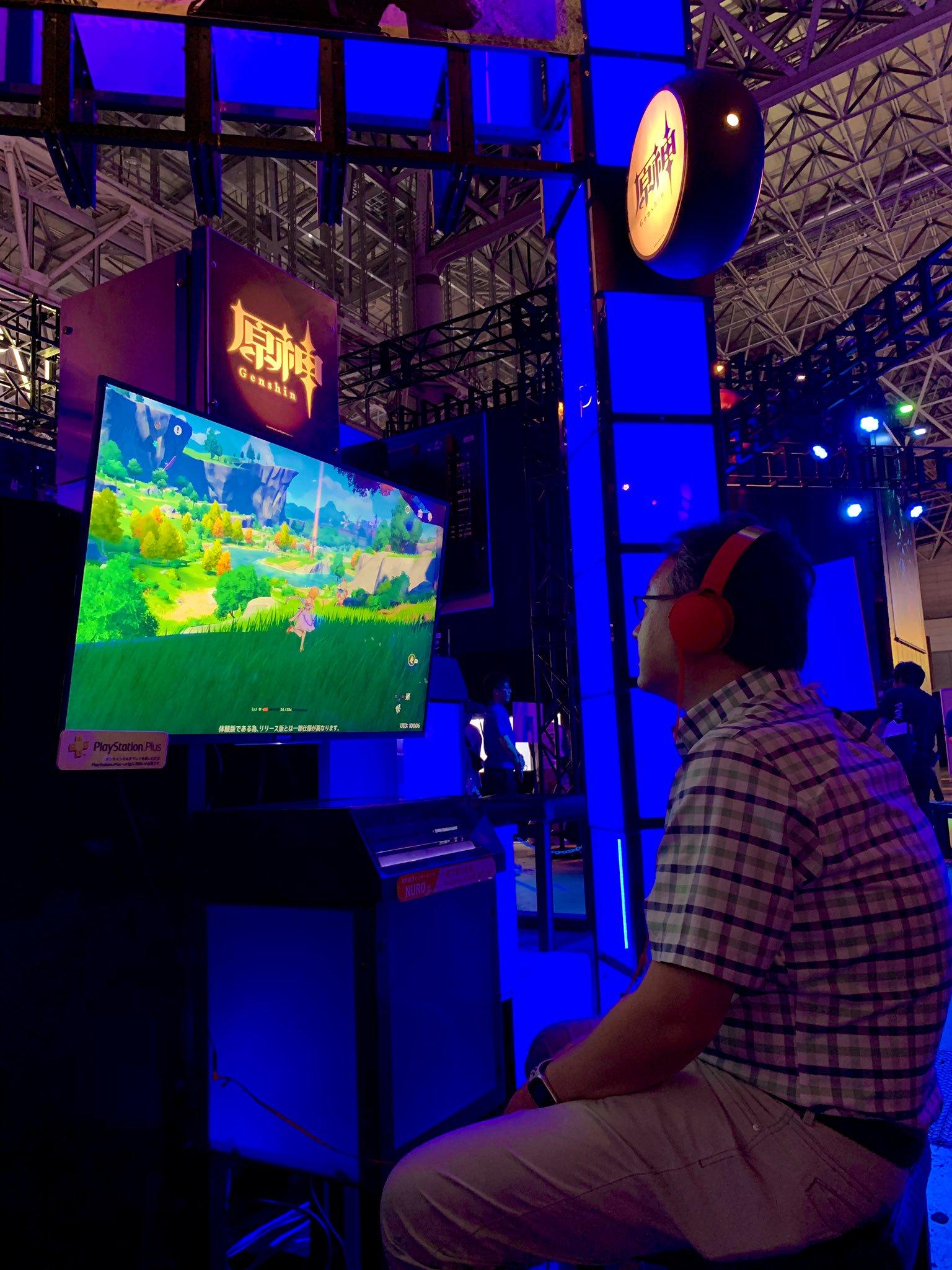 TGS:大牌粉丝!索尼全球工作室总裁邀请玩家试玩《原神》