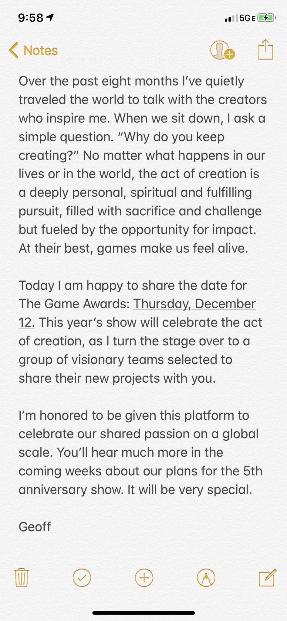 游戏创作者盛会 TGA 2019颁奖礼定于12月12日举办