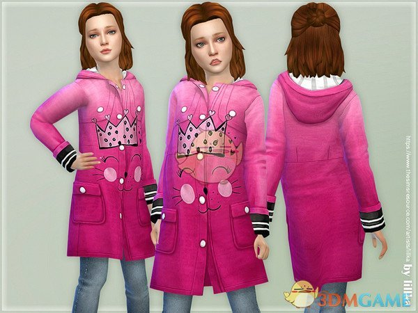 《模拟人生4》粉色的猫咪卫衣MOD