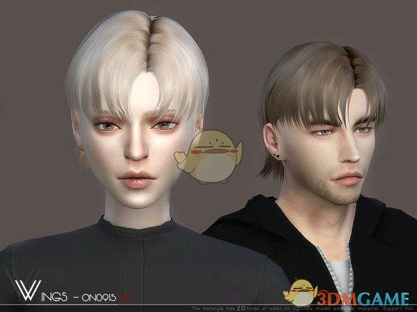 《模拟人生4》男女款帅气中分发型MOD