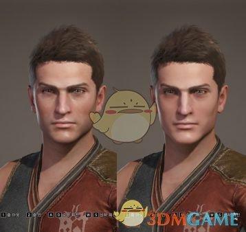 《怪物猎人:世界》更年轻男性面部外观MOD