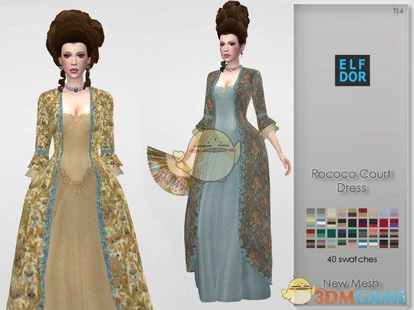 《模拟人生4》复古的洋装MOD