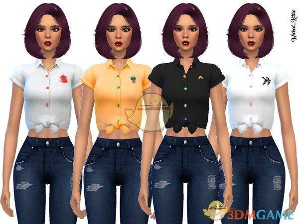 《模拟人生4》女性衬衫短袖MOD