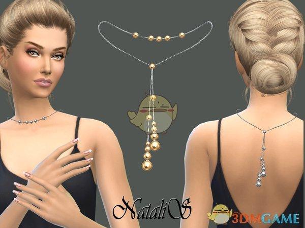 《模拟人生4》金色珍珠项链MOD