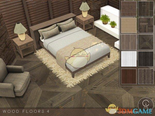 《模拟人生4》时尚精致木地板MOD