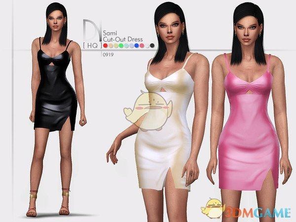 《模拟人生4》性感的开口皮质连衣裙MOD