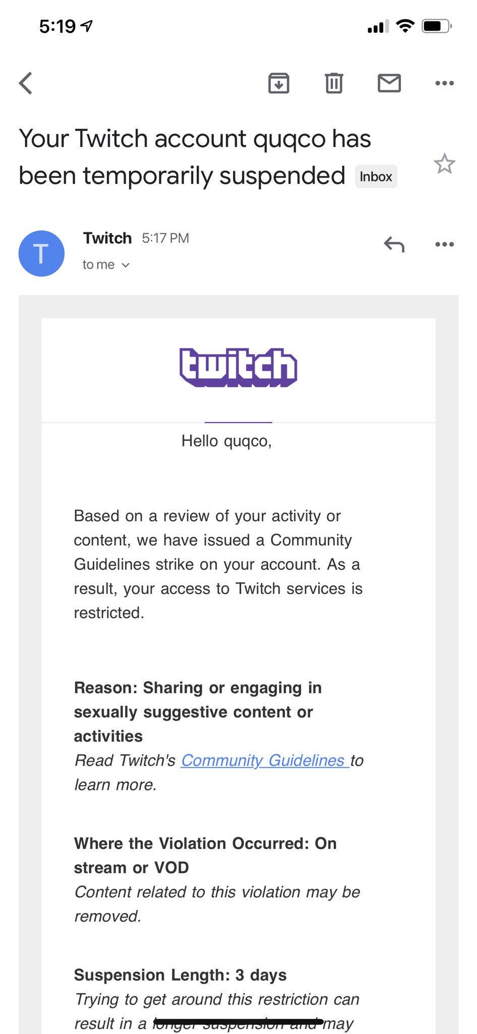 Twitch女主播因cos春麗被封禁 因其有強烈性暗示