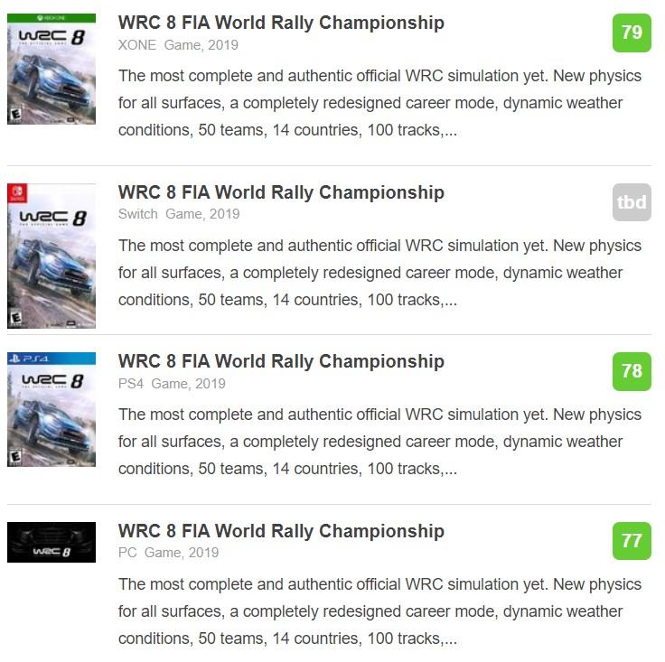 《世界汽车拉力锦标赛8》IGN 8.4分:最深入的拉力赛车游戏