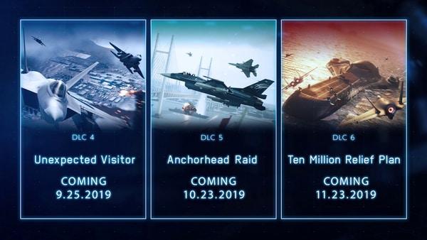 《皇牌空战7:未知空域》DLC4-6发行日期公布