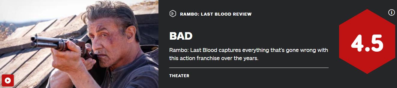 史泰龙《第一滴血5》IGN仅4.5分 肤浅如少年的妄想!