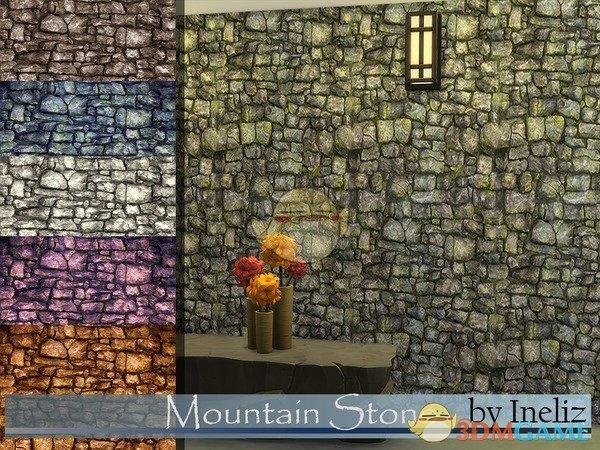 《模拟人生4》古老的石头墙壁MOD