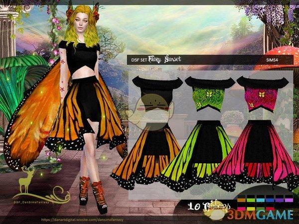 《模拟人生4》蝴蝶仙子服装MOD