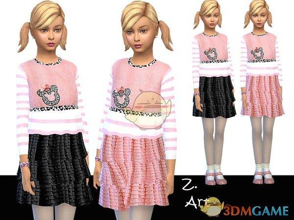 《模拟人生4》粉色米老鼠女孩服装MOD