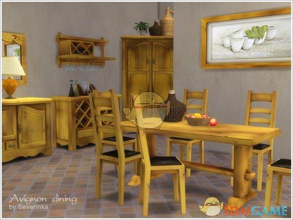 《模拟人生4》复古的木质家具MOD