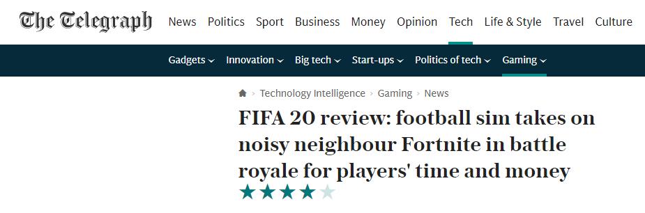 《FIFA20》評分解禁!均分82 街球新模式拯救游戲