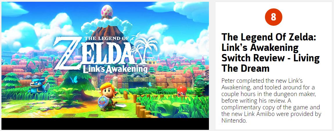 大师级经典重制 《塞尔达传说:织梦岛》IGN9.4分高评