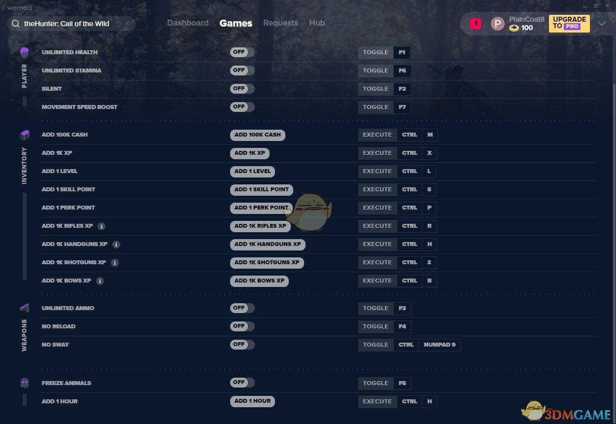 《猎人:荒野的呼唤》v2019.09.19十八项修改器[REPPIN]