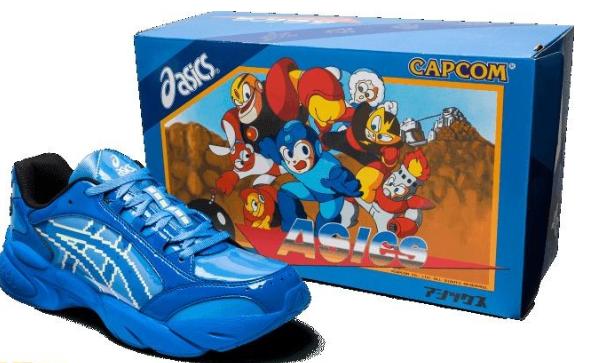 点阵风元素融入其中《洛克人》主题联动亚瑟士运动鞋公布
