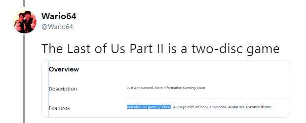 《最后的生还者2》实体版将是双碟装 估计接近90GB
