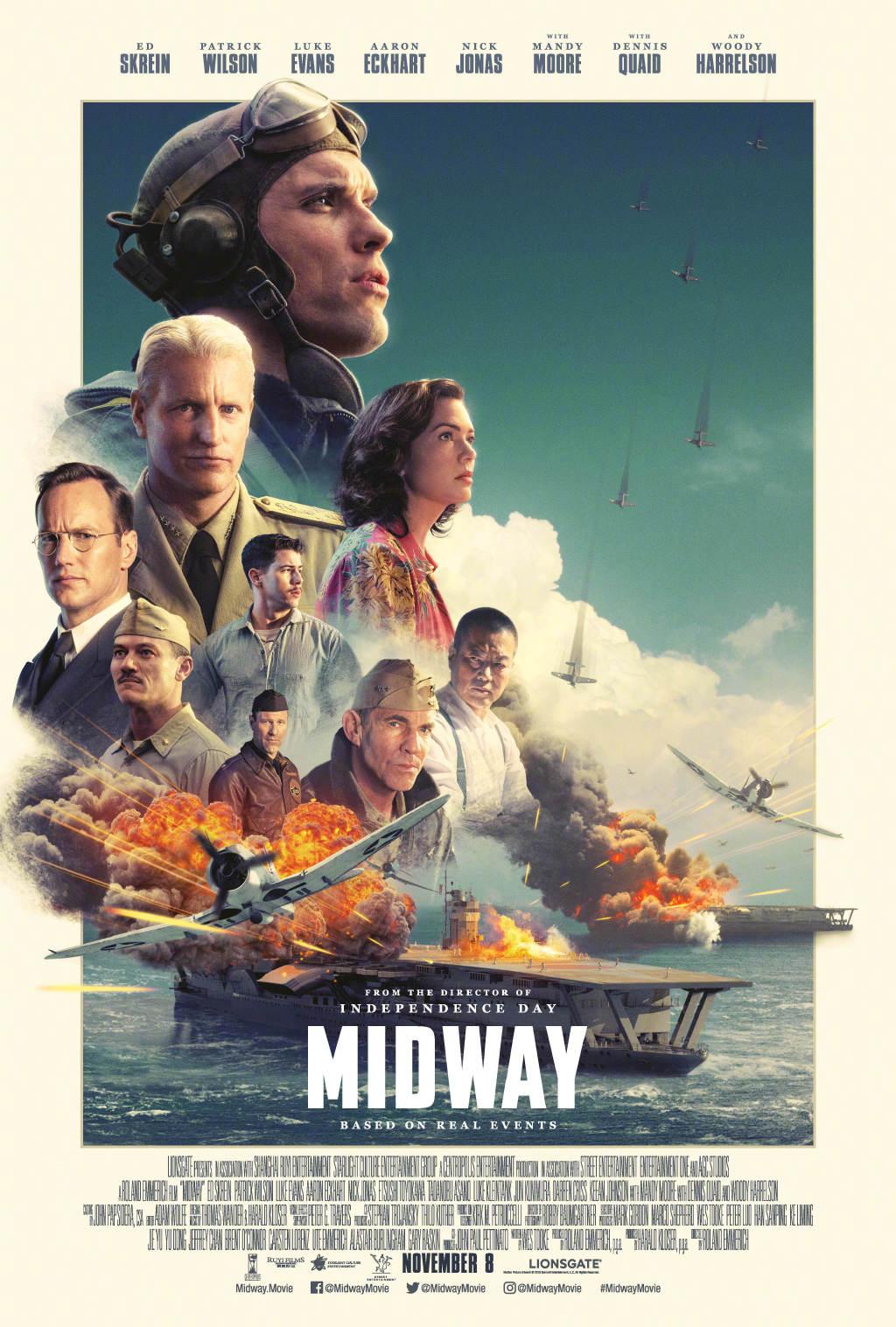 《决战中途岛》电影正式海报曝光 太平洋战役转折点