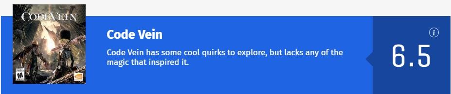 《噬血代碼》媒體分解禁 IGN7分 GS僅打6分:游戲機制怪異的魂類游戲