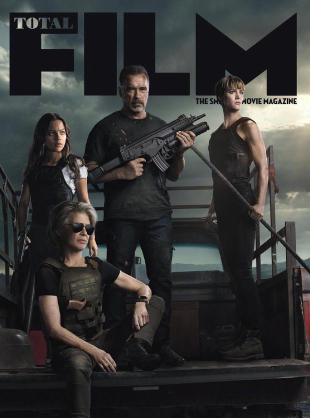 《终结者:黑暗命运》登杂志封面 施瓦辛格手持重机枪