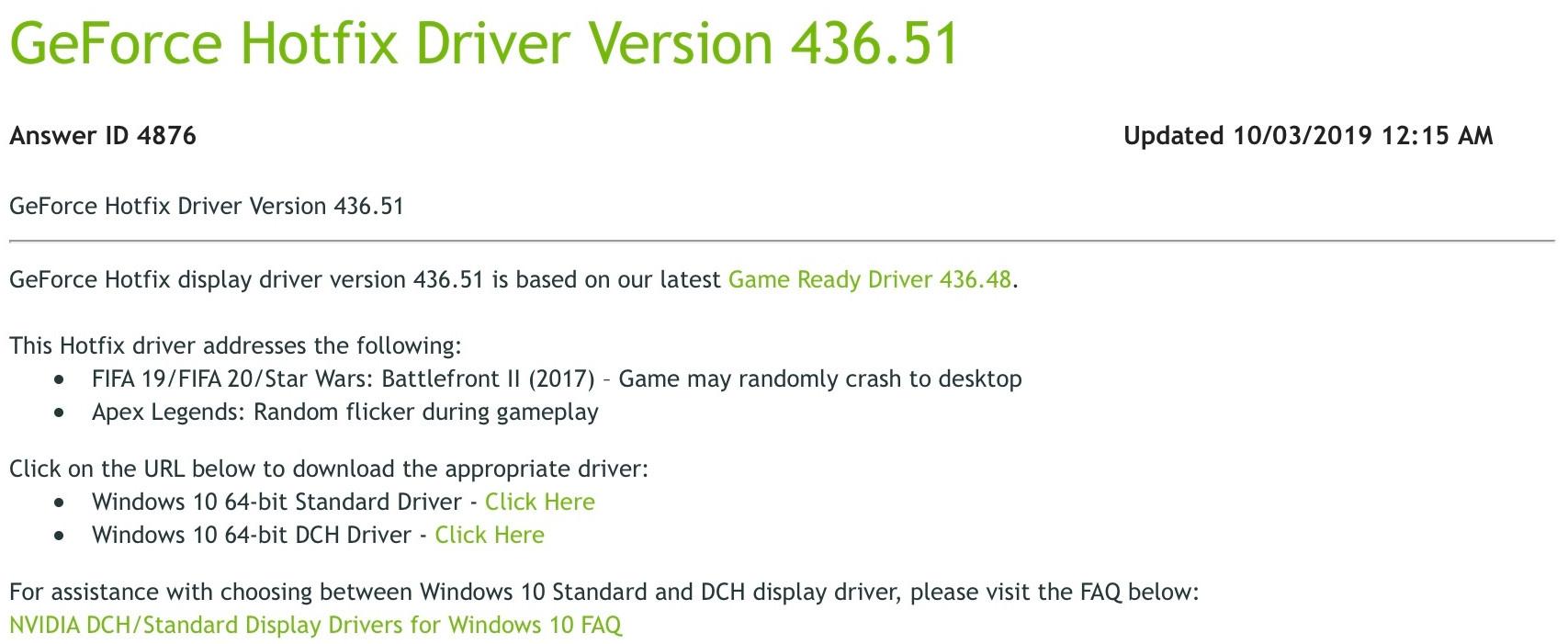 NVIDIA推出热修复驱动更新 修复部分EA游戏闪退问题