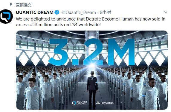 开发商很高兴!PS4《底特律变人》全球销量超320万