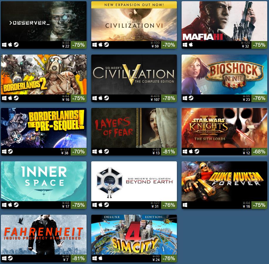 Steam明日之星發行商特賣 《文明6》僅售59元