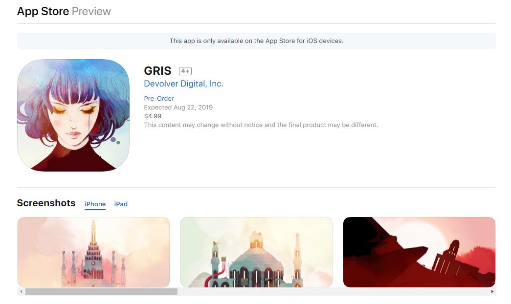 唯美横版冒险佳作 《GRIS》或将登陆PS4平台