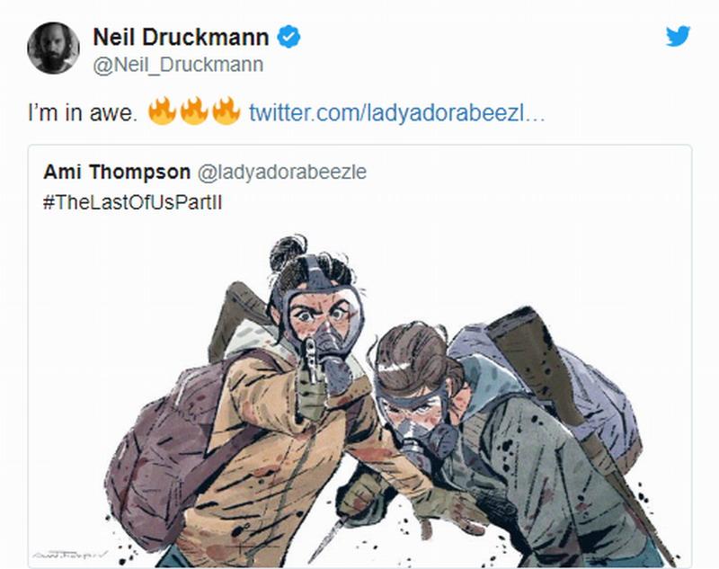 迪士尼艺术总监绘制《最后的生还者2》插画 画面很美