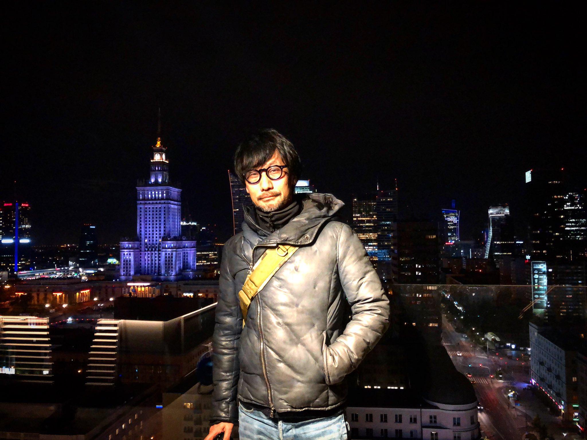小岛秀夫造访CDPR了!还拍下了华沙美丽的夜景