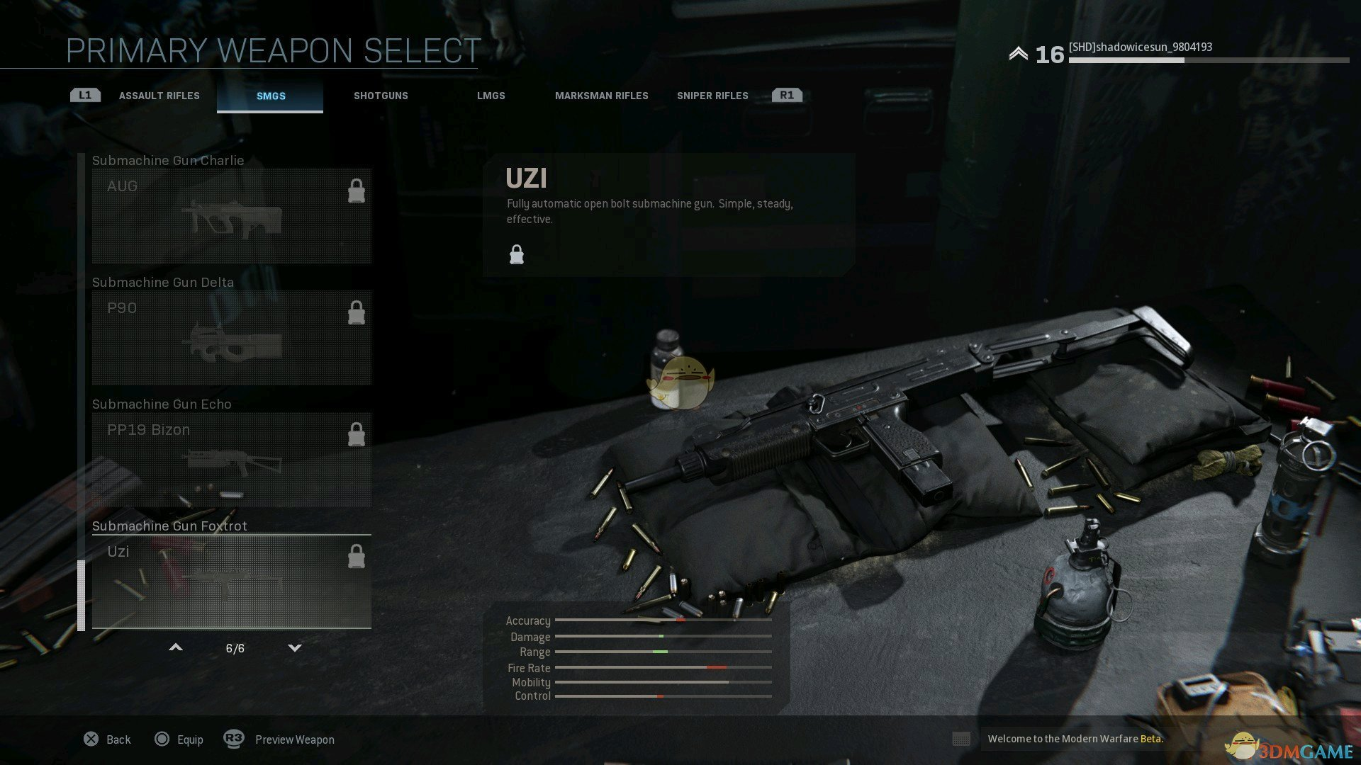 《使命召唤16:现代战争》全冲锋枪外观一览
