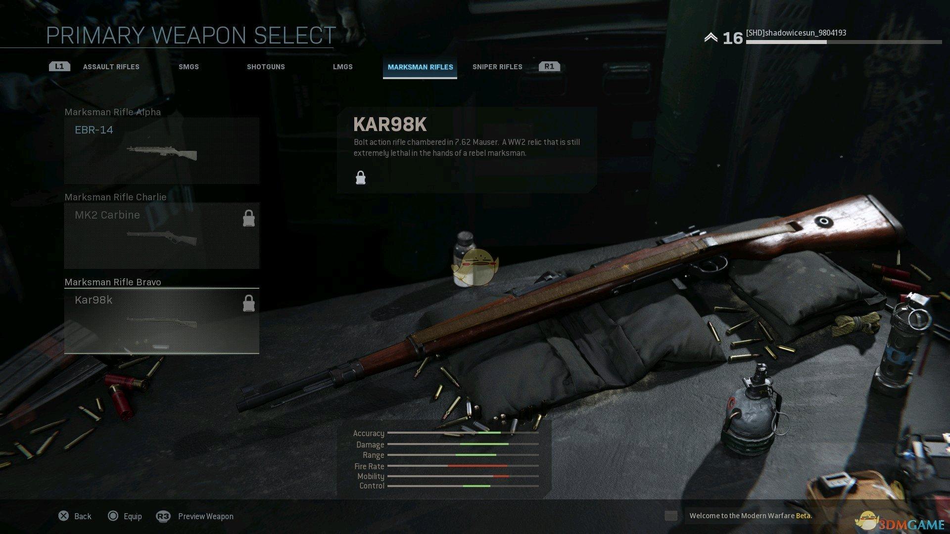 《使命召唤16:现代战争》全精确射手步枪外观一览