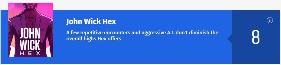 《疾速追杀Hex》IGN 6.8分:离还原电影动作场面差得远
