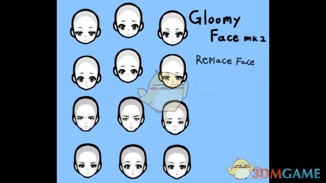 《边缘世界》更多的男性脸型v1.0 MOD