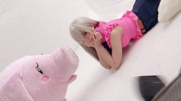 日本美女Enako Cos《七大罪》 酥胸微露长腿吸睛