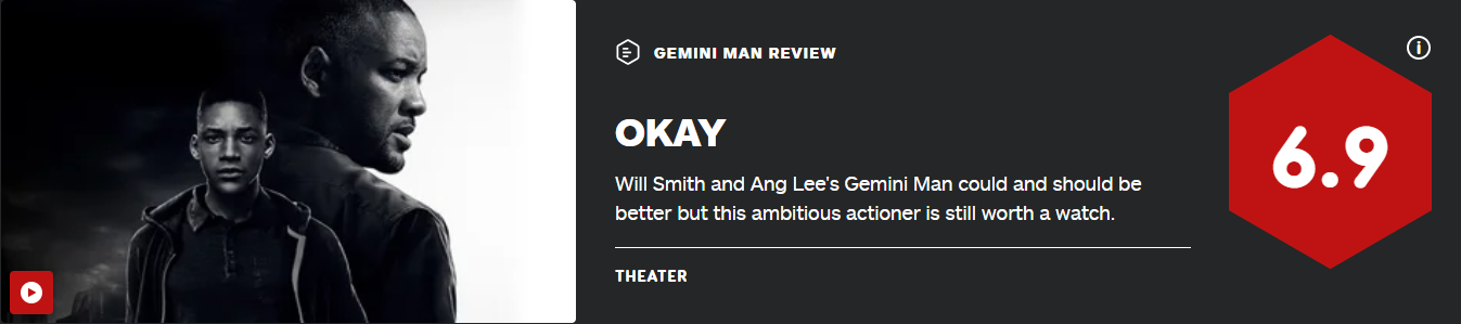 李安《双子杀手》IGN 6.9分 史皇让这部电影值得一看