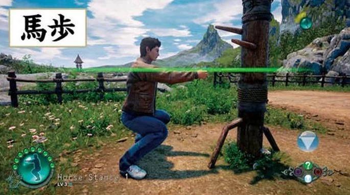 《莎木3》新杂志扫图曝光 劈柴蹲马步玩游戏好欢乐