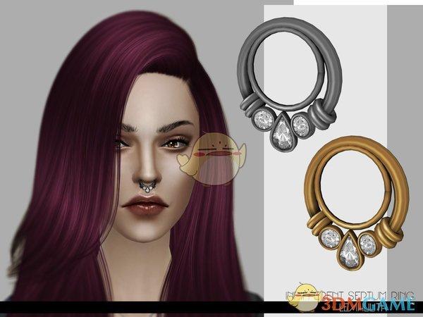 《模拟人生4》精致钻石鼻环MOD