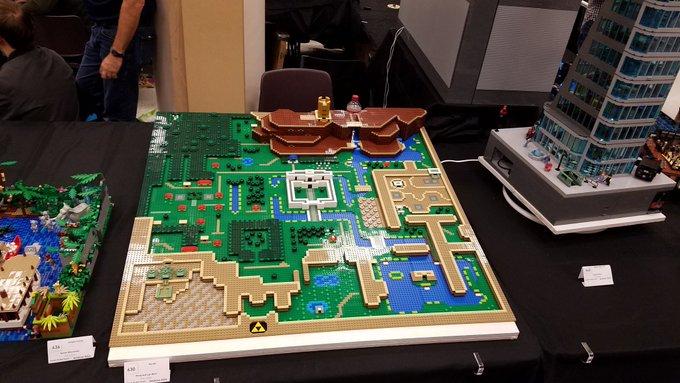 高玩打造乐高版《塞尔达:众神三角力量》完整地图 引网友称赞